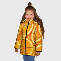 Куртка зимняя для девочки Апельсин цвета 3D-черный — фото 2