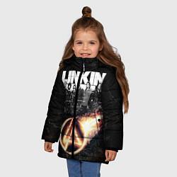 Куртка зимняя для девочки Linkin Park: Comet цвета 3D-черный — фото 2