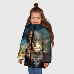 Куртка зимняя для девочки Ролло цвета 3D-черный — фото 2