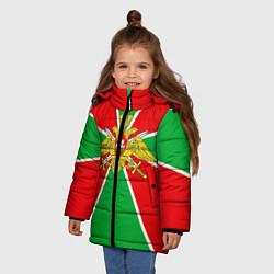 Куртка зимняя для девочки Флаг ПВ цвета 3D-черный — фото 2