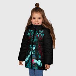 Куртка зимняя для девочки BMTH: Zombie Girl цвета 3D-черный — фото 2