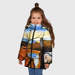 Куртка зимняя для девочки Постоянство Памяти цвета 3D-черный — фото 2
