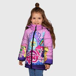 Детская зимняя куртка для девочки с принтом My Little Pony, цвет: 3D-черный, артикул: 10075444706065 — фото 2