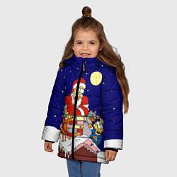 Куртка зимняя для девочки Новый год у Симпоснов цвета 3D-черный — фото 2