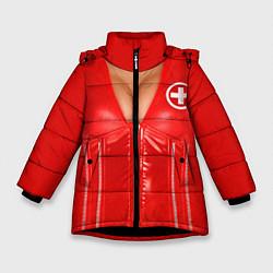Куртка зимняя для девочки Костюм медсестры цвета 3D-черный — фото 1