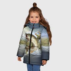 Куртка зимняя для девочки Дерзская щука цвета 3D-черный — фото 2