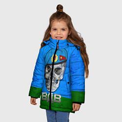 Куртка зимняя для девочки Череп: ВДВ цвета 3D-черный — фото 2
