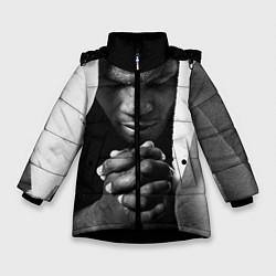 Куртка зимняя для девочки Майк Тайсон цвета 3D-черный — фото 1