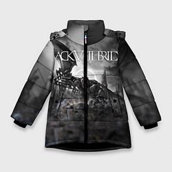 Куртка зимняя для девочки Black Veil Brides: Faithless цвета 3D-черный — фото 1