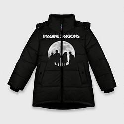 Детская зимняя куртка для девочки с принтом Imagine Dragons: Moon, цвет: 3D-черный, артикул: 10078925606065 — фото 1