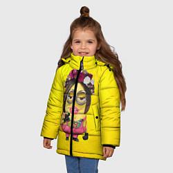 Куртка зимняя для девочки Дамочка цвета 3D-черный — фото 2