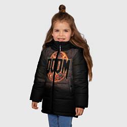 Куртка зимняя для девочки DOOM Fire цвета 3D-черный — фото 2