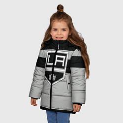 Куртка зимняя для девочки Los Angeles Kings цвета 3D-черный — фото 2