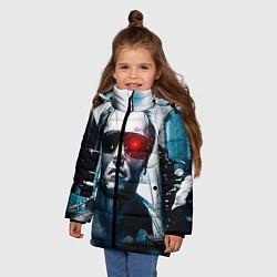 Куртка зимняя для девочки T-800 цвета 3D-черный — фото 2