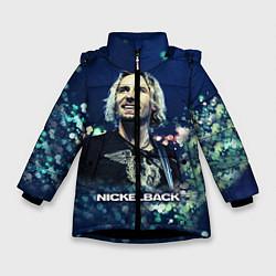 Куртка зимняя для девочки Nickelback: Chad Kroeger цвета 3D-черный — фото 1