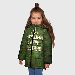 Куртка зимняя для девочки Лучший крестник цвета 3D-черный — фото 2
