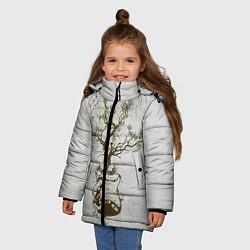 Куртка зимняя для девочки Three Days Grace: Tree цвета 3D-черный — фото 2