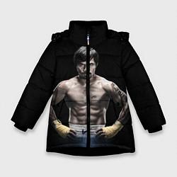 Куртка зимняя для девочки Мэнни Пакьяо цвета 3D-черный — фото 1