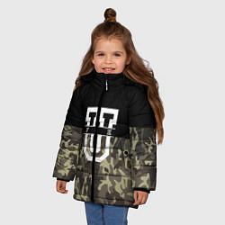 Куртка зимняя для девочки FCK U: Camo цвета 3D-черный — фото 2