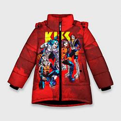 Куртка зимняя для девочки KISS: Hot Blood цвета 3D-черный — фото 1