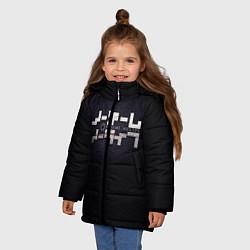 Куртка зимняя для девочки No Game No Life лого цвета 3D-черный — фото 2