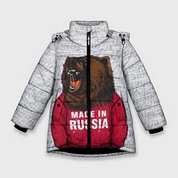 Куртка зимняя для девочки Made in Russia цвета 3D-черный — фото 1