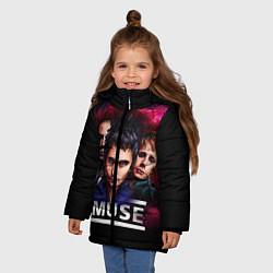 Куртка зимняя для девочки Muse Band цвета 3D-черный — фото 2