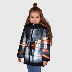 Детская зимняя куртка для девочки с принтом Battlefield Hardline, цвет: 3D-черный, артикул: 10085218406065 — фото 2