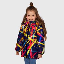 Куртка зимняя для девочки Blink цвета 3D-черный — фото 2