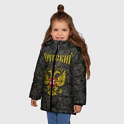 Куртка зимняя для девочки Я Русский цвета 3D-черный — фото 2