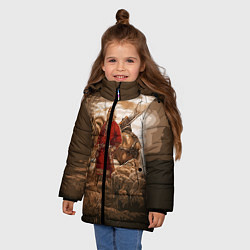 Куртка зимняя для девочки Русь священная цвета 3D-черный — фото 2