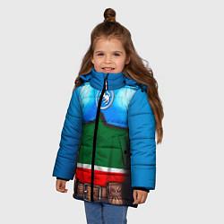 Куртка зимняя для девочки Капитан Татарстан цвета 3D-черный — фото 2