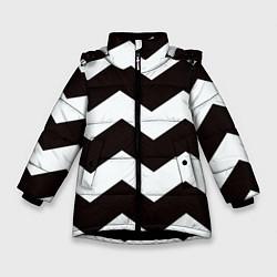 Куртка зимняя для девочки Полосы цвета 3D-черный — фото 1