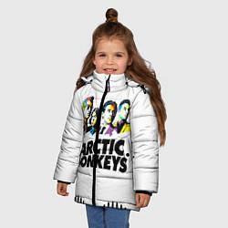Куртка зимняя для девочки Arctic Monkeys: Music Wave цвета 3D-черный — фото 2