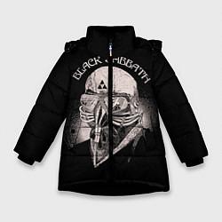 Детская зимняя куртка для девочки с принтом Black Sabbath: Acid Cosmic, цвет: 3D-черный, артикул: 10087840406065 — фото 1