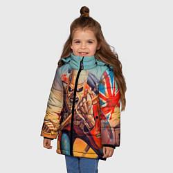 Куртка зимняя для девочки Iron Maiden: Crash arrow цвета 3D-черный — фото 2