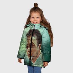 Куртка зимняя для девочки Нортон с сигаретой цвета 3D-черный — фото 2
