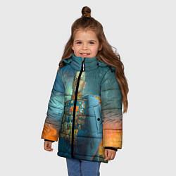 Куртка зимняя для девочки Жуков цвета 3D-черный — фото 2