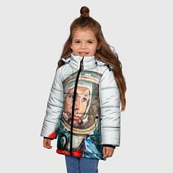 Куртка зимняя для девочки Гагарин в полете цвета 3D-черный — фото 2
