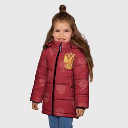 Детская зимняя куртка для девочки с принтом Сборная России по футболу, цвет: 3D-черный, артикул: 10093070906065 — фото 2