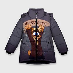 Куртка зимняя для девочки Five Nights: I Did It цвета 3D-черный — фото 1