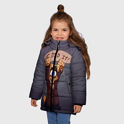 Детская зимняя куртка для девочки с принтом Five Nights: I Did It, цвет: 3D-черный, артикул: 10093561106065 — фото 2