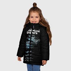 Куртка зимняя для девочки Chemical Brothers: autograph цвета 3D-черный — фото 2