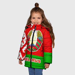 Куртка зимняя для девочки Belarus Patriot цвета 3D-черный — фото 2