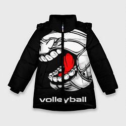 Куртка зимняя для девочки Волейбол 25 цвета 3D-черный — фото 1