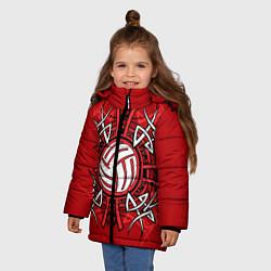 Куртка зимняя для девочки Волейбол 34 цвета 3D-черный — фото 2