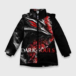 Куртка зимняя для девочки Dark Souls: Wolf цвета 3D-черный — фото 1