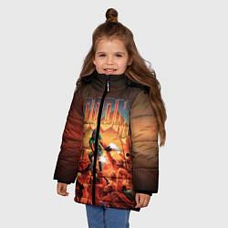 Куртка зимняя для девочки DOOM: 1993 цвета 3D-черный — фото 2