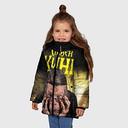 Детская зимняя куртка для девочки с принтом Стивен Кинг думает, цвет: 3D-черный, артикул: 10095787106065 — фото 2
