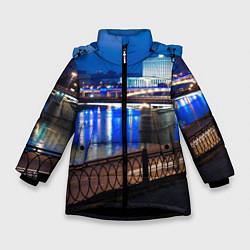Детская зимняя куртка для девочки с принтом Москва, цвет: 3D-черный, артикул: 10095926006065 — фото 1